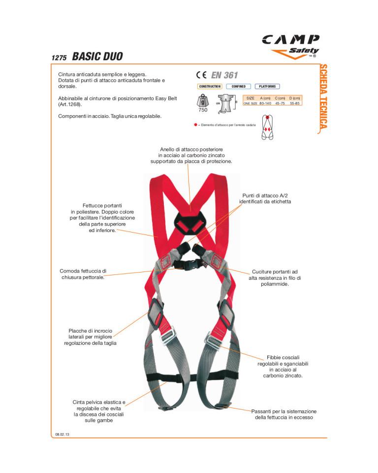 Basic Duo imbracatura di sicurezza anticaduta