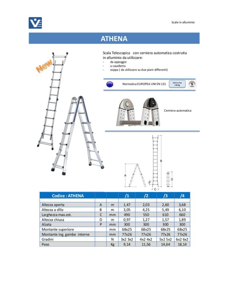 Scala telescopica alluminio Athena