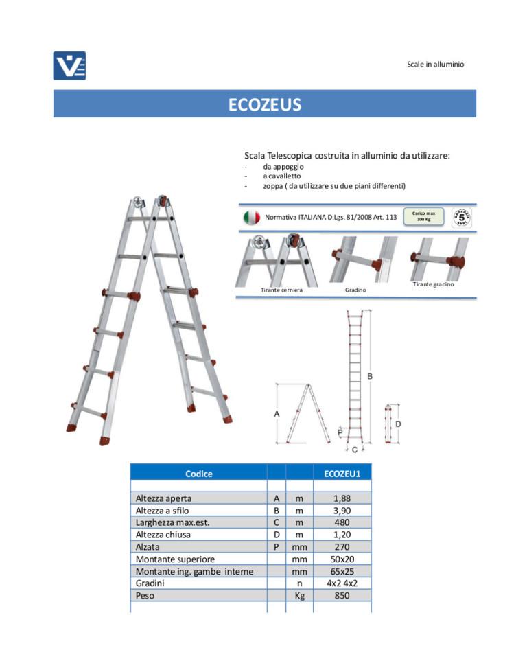 Scala telescopica alluminio EcoZeus