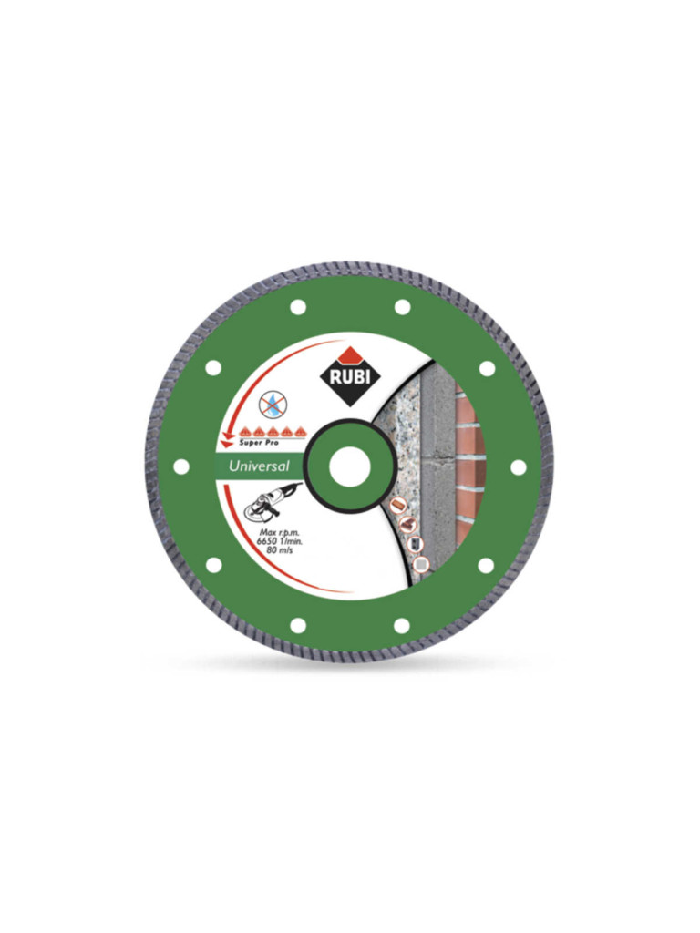 Disco diamantato universale turbo Rubi 115 mm