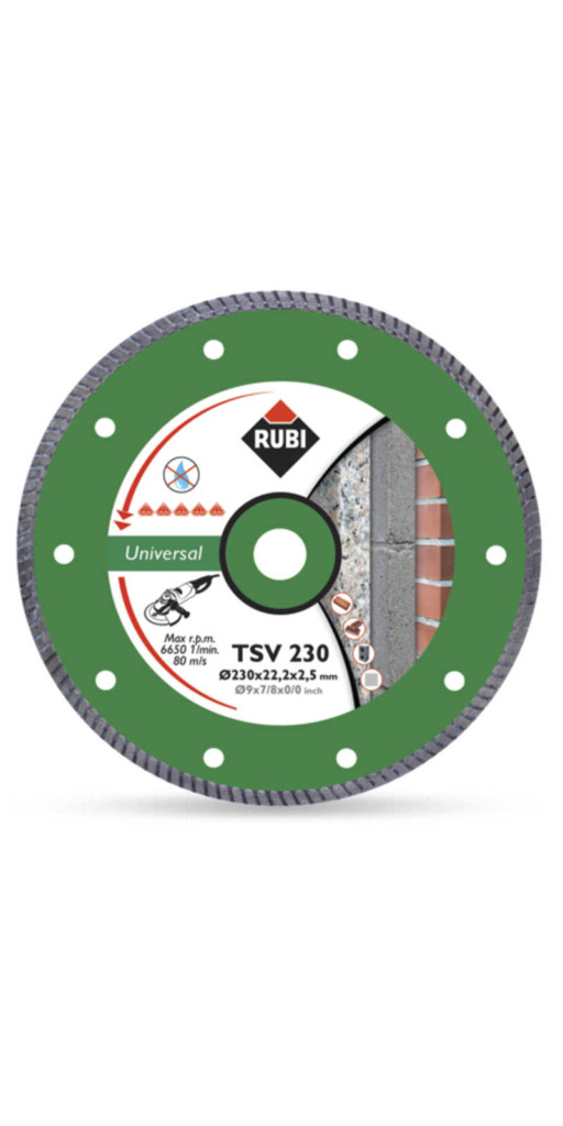 Disco diamantato universale 230 mm turbo Rubi